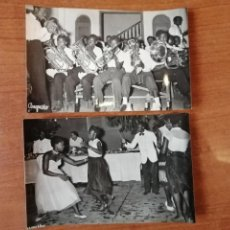 Postales: FOTO POSTAL LOTE 2 GUINEA ESPAÑOLA. ORQUESTINA DE SANTA ISABEL I BAILES NATIVOS DE SANTA ISABEL. Lote 194006470