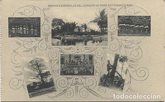 X123024 FERNANDO POO GUINEA ESPAÑOLA UGOMBEGOMBE, BANEY, BAGA, ACARREANDO CACAO, SUBIENDO A LA PALMA (Postales - Postales Temáticas - Ex Colonias y Protectorado Español)