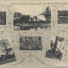 Postales: X123024 FERNANDO POO GUINEA ESPAÑOLA UGOMBEGOMBE, BANEY, BAGA, ACARREANDO CACAO, SUBIENDO A LA PALMA. Lote 194214493