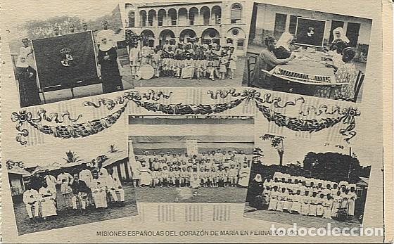 X123041 FERNANDO POO GUINEA ESPAÑOLA COFRADIA CORAZON MARIA Y DIRECTORES, BASILE EDUCANDAS DE FIESTA (Postales - Postales Temáticas - Ex Colonias y Protectorado Español)
