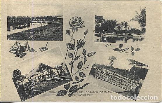 123042 FERNANDO POO GUINEA ESPAÑOLA PLANTACIONES DE RIUS, DE VIVOUR, BOTE DE LA MISION, NINOS FIESTA (Postales - Postales Temáticas - Ex Colonias y Protectorado Español)
