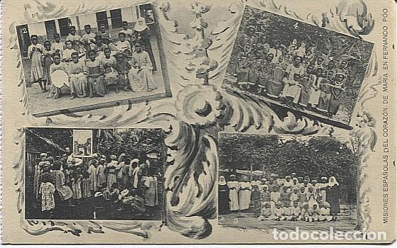 X123047 FERNANDO POO GUINEA ESPAÑOLA ESCUELAS DE ZARAGOZA, DE BASILE, DE CORISCO, DE ELOBEY (Postales - Postales Temáticas - Ex Colonias y Protectorado Español)