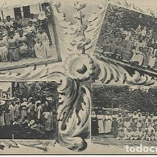 Postales: X123047 FERNANDO POO GUINEA ESPAÑOLA ESCUELAS DE ZARAGOZA, DE BASILE, DE CORISCO, DE ELOBEY. Lote 194218112
