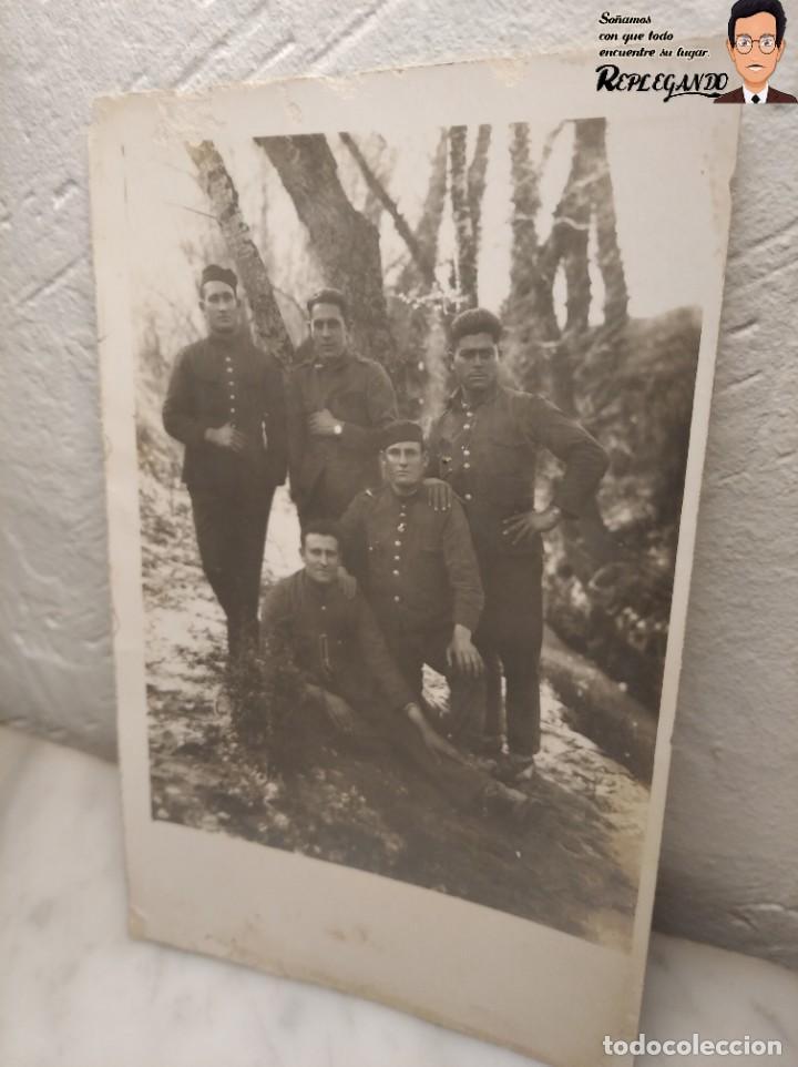 FOTO POSTAL DE SOLDADOS ESPAÑOLES EN LA GUERRA DEL RIF EN MARRUECOS (Postales - Postales Temáticas - Ex Colonias y Protectorado Español)