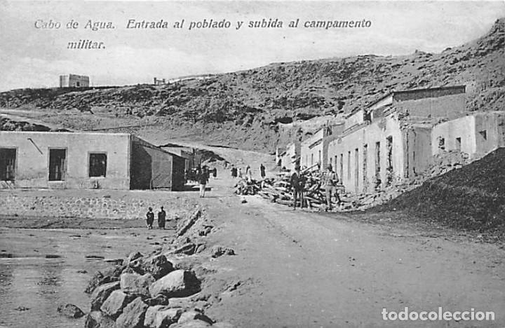 CABO DE AGUA. ENTRADA AL POBLADO Y SUBIDA AL CAMPAMENTO MILITAR (Postales - Postales Temáticas - Ex Colonias y Protectorado Español)