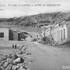 Postales: CABO DE AGUA. ENTRADA AL POBLADO Y SUBIDA AL CAMPAMENTO MILITAR. Lote 194661700