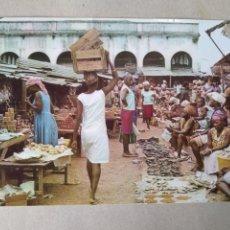 Postales: GUINEA ECUATORIAL EN EL MERCADO MATASELLOS CORREO AÉREO BATA. Lote 195452126