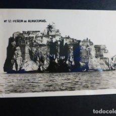 Postales: PEÑON DE ALHUCEMAS VISTA POSTAL FOTOGRAFICA. Lote 195800471