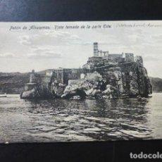 Postales: PEÑON DE ALHUCEMAS VISTA TOMADA DE LA PARTE ESTE. Lote 196301287