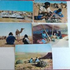 Postales: LOTE DE 5 POSTALES DEL SAHARA ESPAÑOL EL AAIUN ... LAS DE LAS FOTOS. Lote 196807990