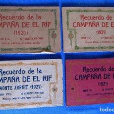 Postales: RECUERDO DE LA CAMPAÑA EN EL RIF. SERIE III, IV, VI, VII. EDICIÓN POSTAL EXPRES, MELILLA.. Lote 196898641