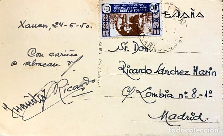 Postales: 1950. XAUEN (EL AUIN)-MADRID. - Foto 2 - 202371688