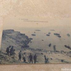 Postales: POSTAL ALHUCEMAS - CONSTRUYENDO CAMINOS EN MORRO NUEVO - HAUSER Y MENET - MADRID -. Lote 203554182