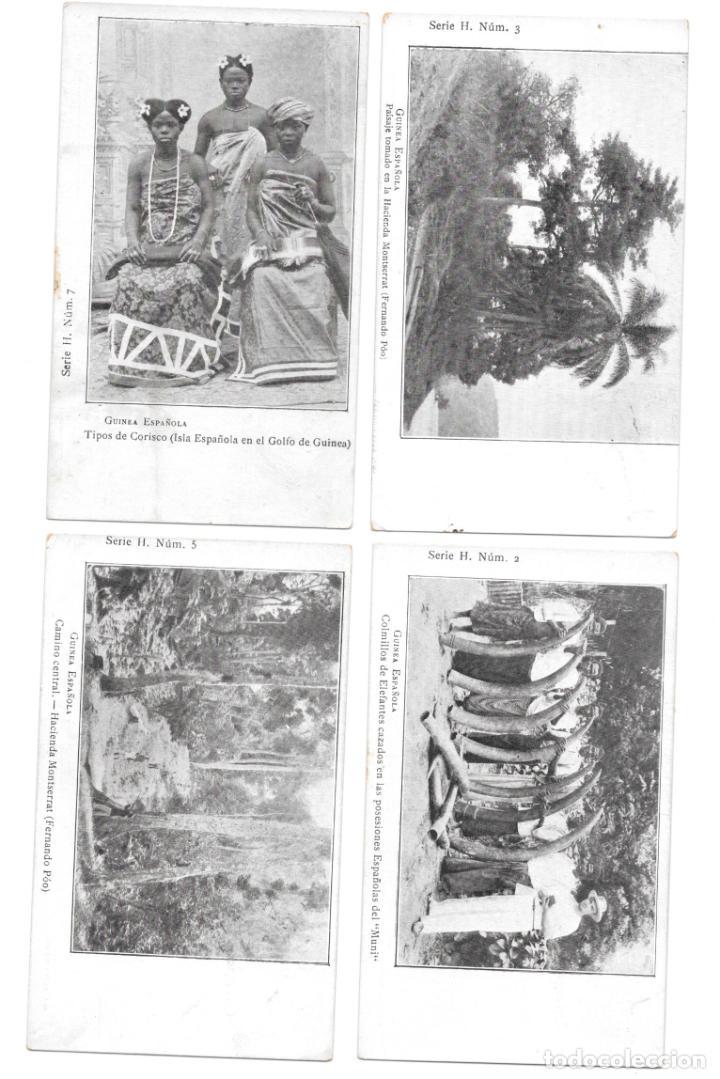 P-11503. LOTE DE 6 POSTALES FOTOGRAFICAS GUINEA ESPAÑOLA. SERIE H. (Postales - Postales Temáticas - Ex Colonias y Protectorado Español)