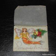 Postales: POSTAL CON CROMO. UNA OBRA DE ARTE. SOUVENIR DE ÁFRICA.. Lote 207122408