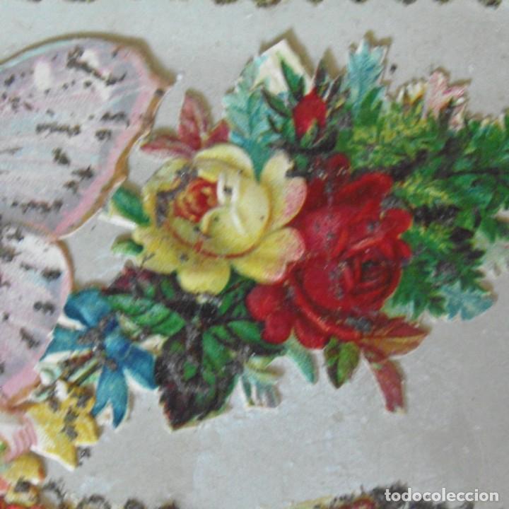 Postales: Postal con cromo. Una obra de arte. Souvenir de África. - Foto 3 - 207122408