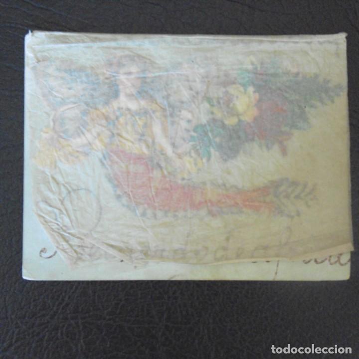 Postales: Postal con cromo. Una obra de arte. Souvenir de África. - Foto 4 - 207122408