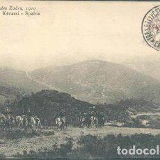 Postales: POSTAL COLONNE DES ZAERS 1910 KERASSI SPAHIS SELLO FRANCES SOBRECARGA ESPAÑOLA MARRUECOS. Lote 209795920