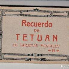 Postales: RECUERDO DE TETUÁN, II SERIE, BLOK DE 20 POSTALES ANTIGUAS, ENVÍO GRATIS, HAUSER Y MENET. Lote 210979252