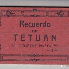 Postales: RECUERDO DE TETUÁN, I SERIE, BLOK DE 20 POSTALES ANTIGUAS, ENVÍO GRATIS, HAUSER Y MENET. Lote 210979927