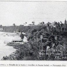 Postales: POSTAL GUINEA ESPAÑOLA (FERNANDO PÓO) DETALLE DE LA BAHÍA Y MUELLES DE SANTA ISABE - SERIE B. NÚM. 8. Lote 211643964