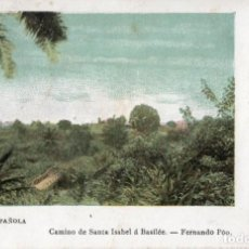 Postales: POSTAL GUINEA ESPAÑOLA (FERNANDO PÓO) CAMINO DE SANTA ISABEL Á BASILÉE- SERIE E. NÚM. 6. Lote 211644760