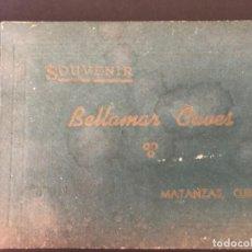 Postales: CUBA, CUEVA DE BELLAMAR EN MATANZAS. LIBRO RECUERDO CON 10 POSTALES. VER FOTOS. Lote 215927622