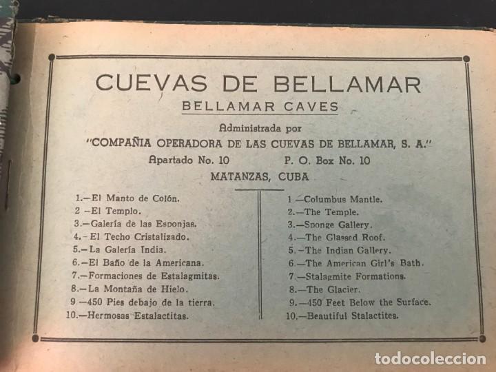 Postales: Cuba, Cueva de Bellamar en Matanzas. Libro recuerdo con 10 postales. Ver fotos - Foto 2 - 215927622