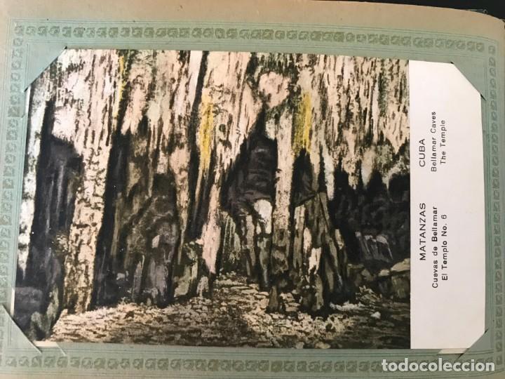 Postales: Cuba, Cueva de Bellamar en Matanzas. Libro recuerdo con 10 postales. Ver fotos - Foto 4 - 215927622