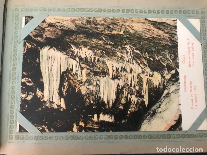 Postales: Cuba, Cueva de Bellamar en Matanzas. Libro recuerdo con 10 postales. Ver fotos - Foto 7 - 215927622