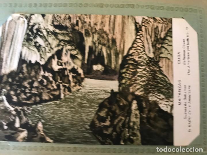 Postales: Cuba, Cueva de Bellamar en Matanzas. Libro recuerdo con 10 postales. Ver fotos - Foto 8 - 215927622