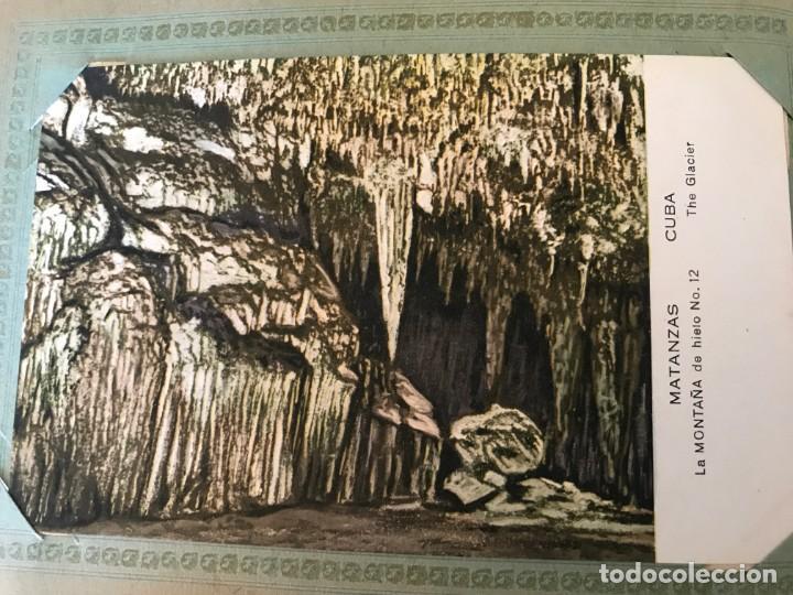 Postales: Cuba, Cueva de Bellamar en Matanzas. Libro recuerdo con 10 postales. Ver fotos - Foto 10 - 215927622