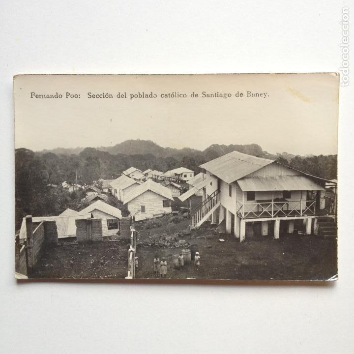 FERNANDO POO - SECCION DEL POBLADO CATOLICO DE SANTIAGO DE BANEY - (Postales - Postales Temáticas - Ex Colonias y Protectorado Español)