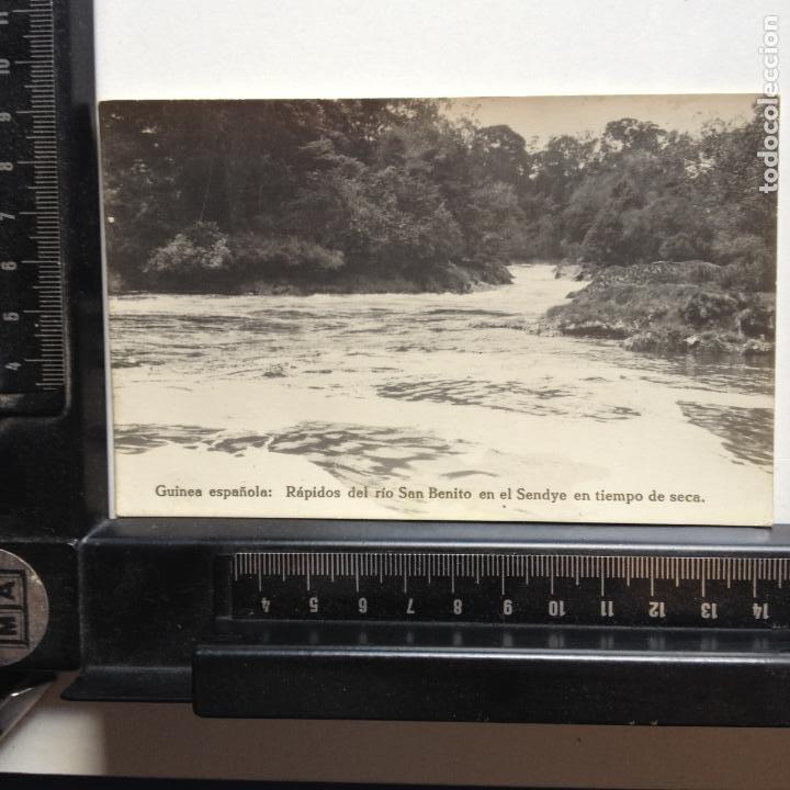 Postales: GUINEA ESPAÑOLA - RÁPIDOS DEL RIO SAN BENITO EN EL SENDYE EN TIEMPO DE SECA - Foto 2 - 216604496