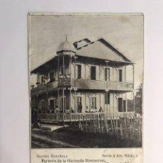 Postales: GUINEA ESPAÑOLA. POSTAL SERIE A BIS. NO.1, FACTORÍA DE LA HACIENDA MONTSERRAT (H.1920?) DESLUCIDA... Lote 218833826