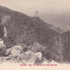 Postales: MARRUECOS TANGER SUR LA ROUTE DU CAP SPARTEL. ED.PZ. SIN CIRCULAR. Lote 218933205