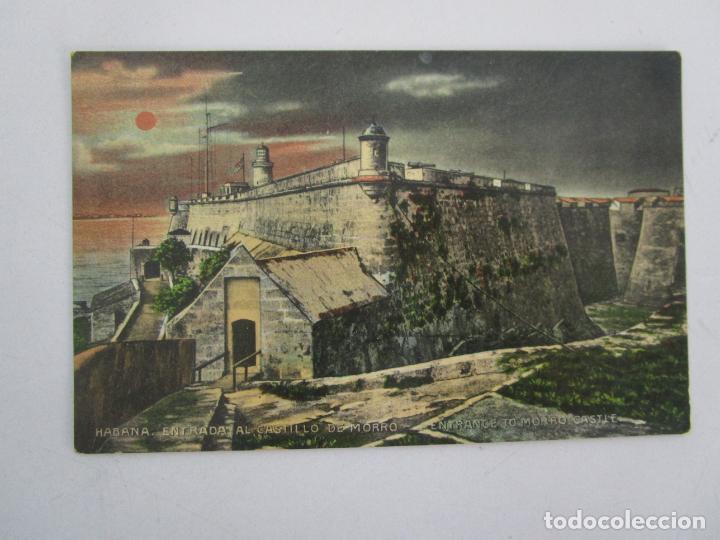 ANTIGUA POSTAL - HABANA, ENTRADA AL CASTILLO DE MORRO - EDICIÓN JORDI - Nº 166 - REPÚBLICA DE CUBA (Postales - Postales Temáticas - Ex Colonias y Protectorado Español)