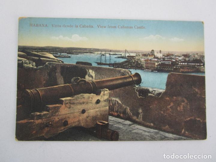 ANTIGUA POSTAL - HABANA, VISTA DESDE LA CABAÑA - Nº 37 - REPÚBLICA DE CUBA (Postales - Postales Temáticas - Ex Colonias y Protectorado Español)