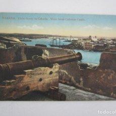 Postales: ANTIGUA POSTAL - HABANA, VISTA DESDE LA CABAÑA - Nº 37 - REPÚBLICA DE CUBA. Lote 219356440