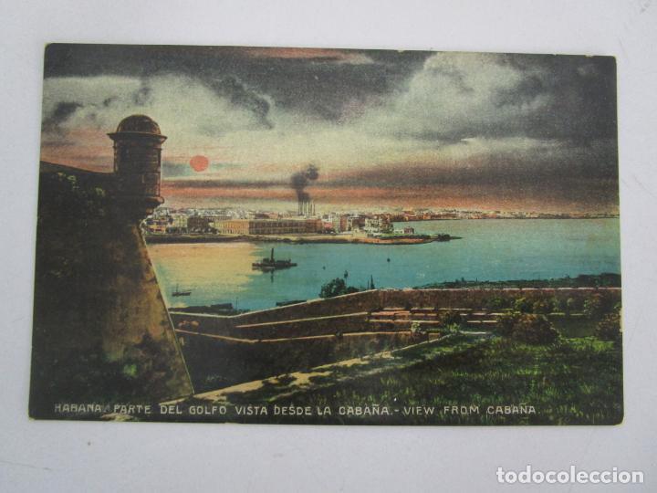 ANTIGUA POSTAL - HABANA, PARTE DEL GOLFO VISTA DESDE LA CABAÑA - EDICIÓN JORDI - REPÚBLICA DE CUBA (Postales - Postales Temáticas - Ex Colonias y Protectorado Español)