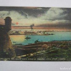 Postales: ANTIGUA POSTAL - HABANA, PARTE DEL GOLFO VISTA DESDE LA CABAÑA - EDICIÓN JORDI - REPÚBLICA DE CUBA. Lote 219357326
