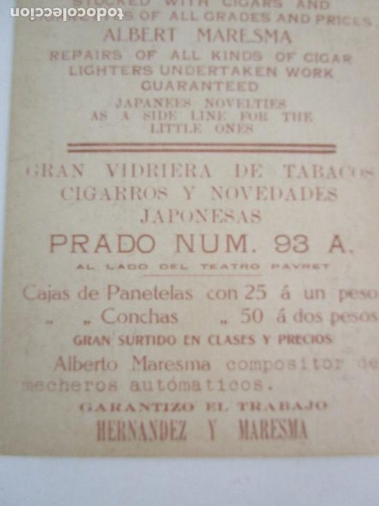 Postales: Antigua Postal Publicitaría - Habana, Edificios Modernos en el Prado - Tabacos - República de Cuba - Foto 4 - 219359132