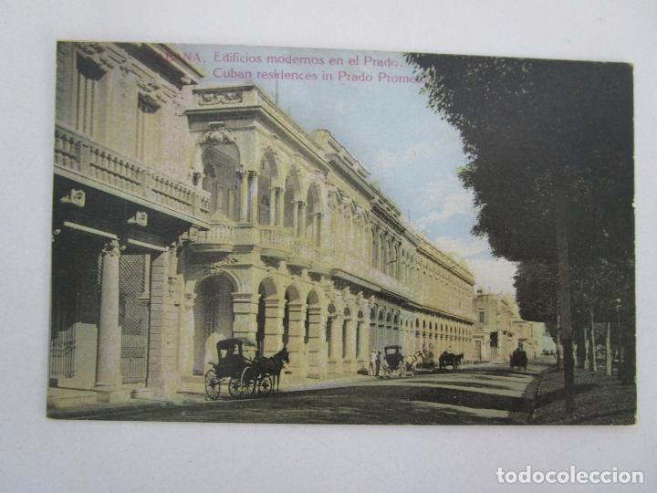 ANTIGUA POSTAL PUBLICITARÍA - HABANA, EDIFICIOS MODERNOS EN EL PRADO - TABACOS - REPÚBLICA DE CUBA (Postales - Postales Temáticas - Ex Colonias y Protectorado Español)