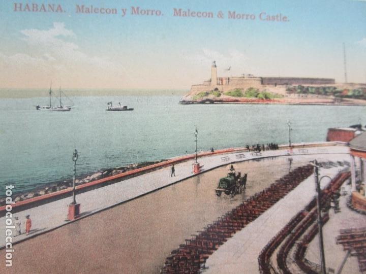 Postales: Antigua Postal - Habana, Malecon y Morro - Edición Jordi - nº 158 - República de Cuba - Foto 2 - 219359377
