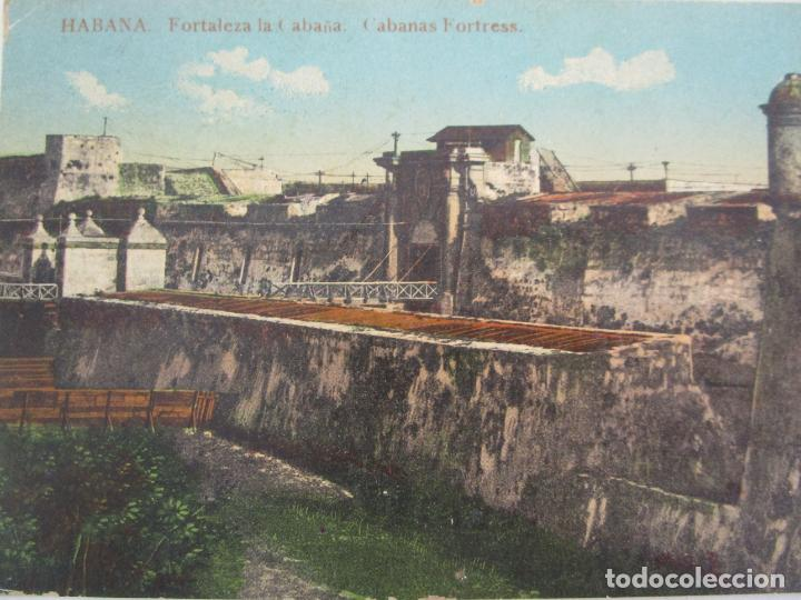 Postales: Antigua Postal - Habana, Fortaleza la Cabaña - nº 35 - Circulada - República de Cuba 1914 - Foto 2 - 219359581