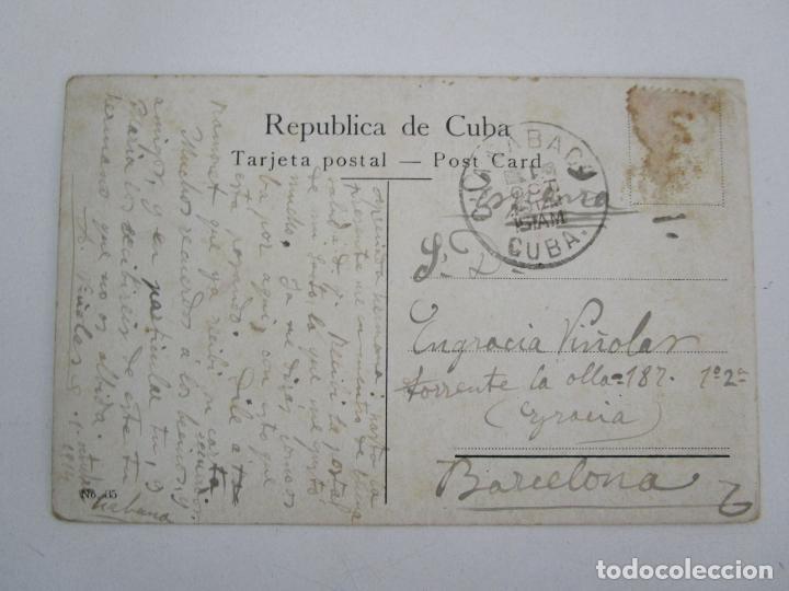 Postales: Antigua Postal - Habana, Fortaleza la Cabaña - nº 35 - Circulada - República de Cuba 1914 - Foto 3 - 219359581