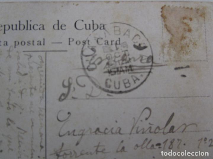 Postales: Antigua Postal - Habana, Fortaleza la Cabaña - nº 35 - Circulada - República de Cuba 1914 - Foto 4 - 219359581