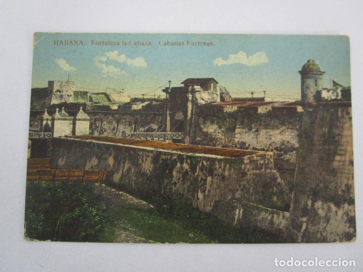 ANTIGUA POSTAL - HABANA, FORTALEZA LA CABAÑA - Nº 35 - CIRCULADA - REPÚBLICA DE CUBA 1914 (Postales - Postales Temáticas - Ex Colonias y Protectorado Español)