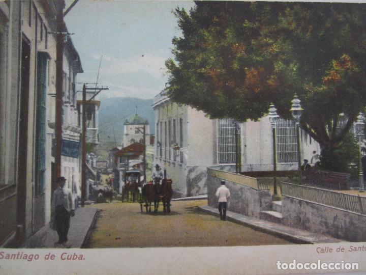 Postales: Antigua Postal - Calle de Santo Tomás, Santiago de Cuba - República de Cuba - Foto 2 - 219360343