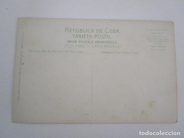 Postales: Antigua Postal - Parapeto de Cañones Fortaleza de la Cabaña, Habana - República de Cuba - Foto 3 - 219360742